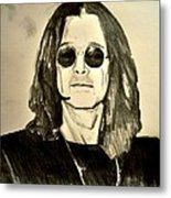 Ozzy Plain And Simple Metal Print