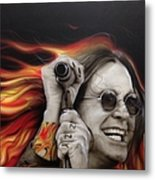 Ozzy's Fire Metal Print