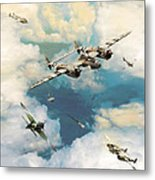 P-38 Lighting Metal Print