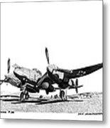 P 38 Lightning Metal Print
