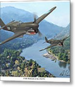 P-40 Warhawks Of The 23rd Fg Metal Print