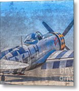 P-47 Thunderbolt Airplane Wwii Airfield Metal Print