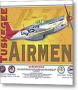 P-51 D Tuskegee Airmen Metal Print by Kenneth De Tore