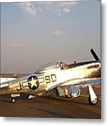 P-51 Mustang Fighter Aircraft Metal Print