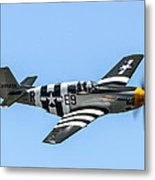 P-51 Mustang Fighter Metal Print