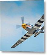 P-51 Mustang Low Pass Metal Print by Puget  Exposure