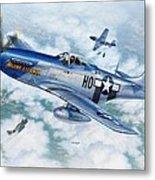 P-51D Mustang The Hawk-Eye-Owan Metal Print