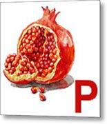 P Art Alphabet For Kids Room Metal Print