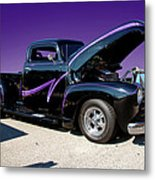 P P - Purple Pickup Metal Print