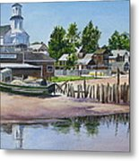 P' Town Boat Works Metal Print by Karol Wyckoff