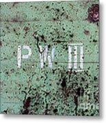 P W Metal Print