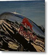 P38 Red Bull Lightning Warbird Metal Print