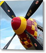 P51 Propeller Metal Print by Remy NININ