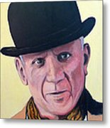 Pablo Picasso Metal Print by Tom Roderick