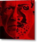 Pablo Red Metal Print
