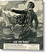 Pabst Metal Print