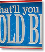 Pabst Cold Beer Sign Key West - Hdr Style Metal Print