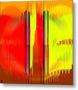 Pacan - Yellow And Red Metal Print