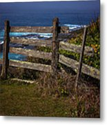 Pacific Coast Fence Metal Print