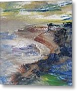 Pacific Coast In Autumn Light Metal Print