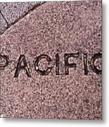 Pacific Concrete Street Sign Metal Print