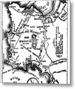 Pacific Grove And Vicinity  Monterey Peninsula California  Circa 1880 Metal Print