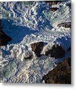 Pacific Ocean Against Rocks Metal Print