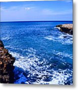 Pacific Ocean And Lava Metal Print