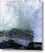 Pacific Ocean Wave Splash Metal Print