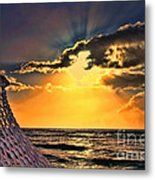 Pacific Sunset By Diana Sainz Metal Print