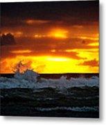 Pacific Sunset Drama Metal Print