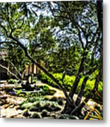 Pacifica Courtyard Metal Print