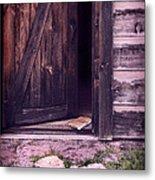 Package By Open Front Door Metal Print