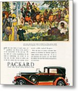 Packard 1930 1930s Usa Cc Cars Horses Metal Print