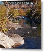 Packard Hill Bridge Lebanon New Hampshire Metal Print by Edward Fielding