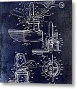 Packard Hood Ornament Blue Metal Print