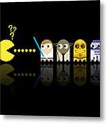 Pacman Star Wars - 3 Metal Print by NicoWriter