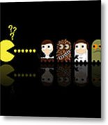 Pacman Star Wars - 4 Metal Print by NicoWriter