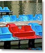 Paddle Boats Metal Print