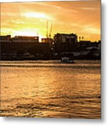 Paddle By The Sunset Metal Print