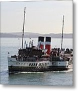 Paddle Steamer Metal Print
