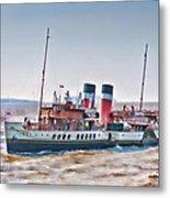 Paddle Steamer Waverley Metal Print
