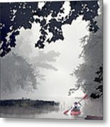 Paddling Towards The Unknown Metal Print