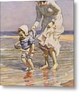 Paddling Metal Print by William Kay Blacklock