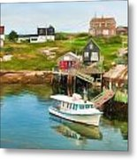 Peggy's Cove Boat Tours Metal Print