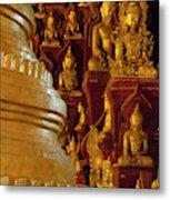 Pagoda And Buddhist Statues Metal Print