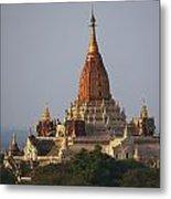 Pagoda In Bagan, Upper Burma Myanmar Metal Print