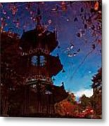 Pagoda Reflection Metal Print