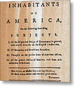 Paine: Common Sense, 1776 Metal Print by Granger