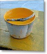 Paint Bucket Metal Print